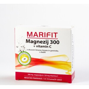 MARIFIT MAGNEZIJ 300MG+VIT. C 30 ŠUM. TB-0