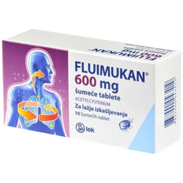 FLUIMUKAN 600MG ŠUM TBL 10X SALP -0