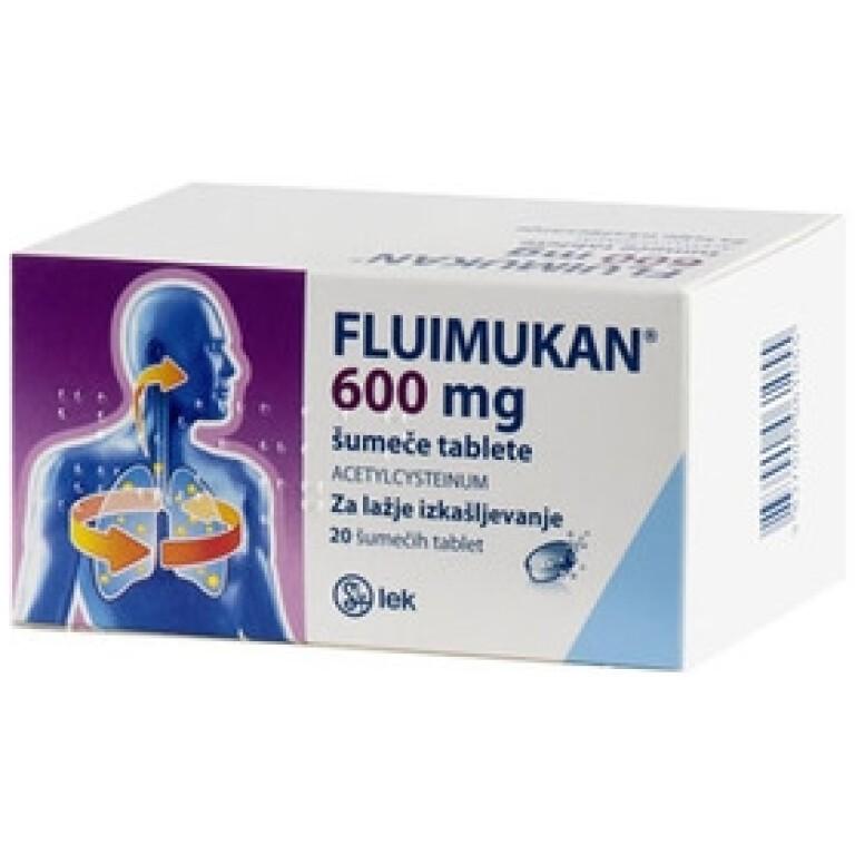 FLUIMUKAN 600MG ŠUM TBL 20X LEK -0