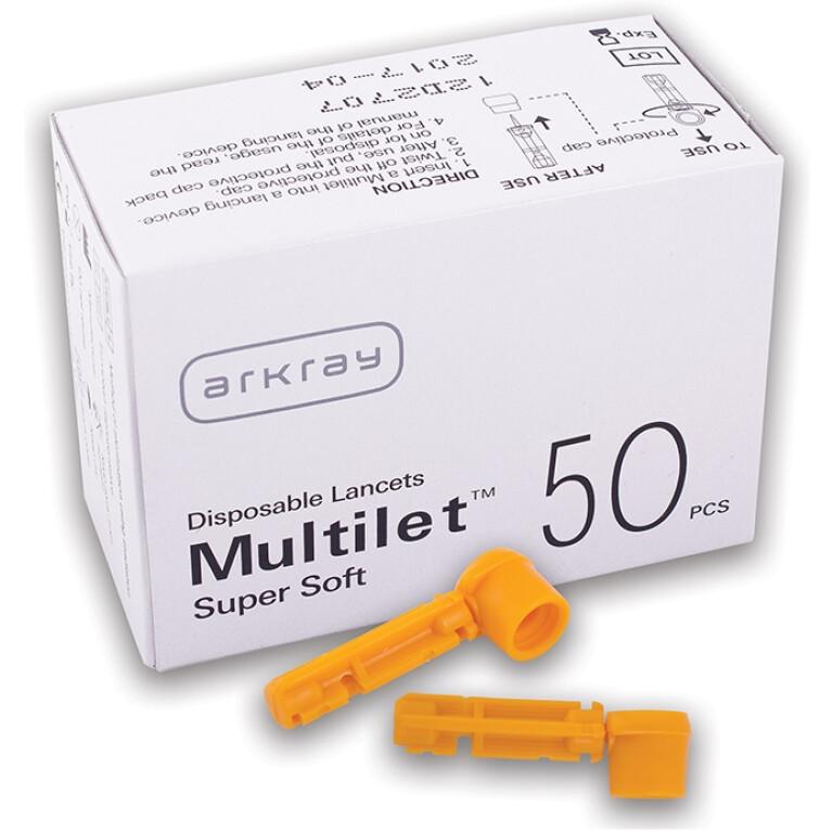 Glucocard Multilet supersoft lancete, 50 lancet