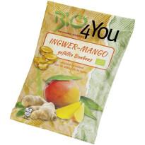 BIO bonboni Bio4You s polnilom iz ingverja in manga, 75 g-0