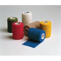 Coban, samooprijemljivi elastični povoj 10 cm x 4,6 m, rjave barve -0