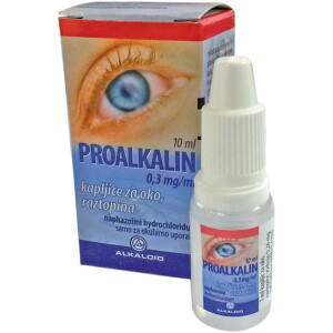 Proalkalin 0,3 mg/ml, kapljice za oko, 10 ml -0