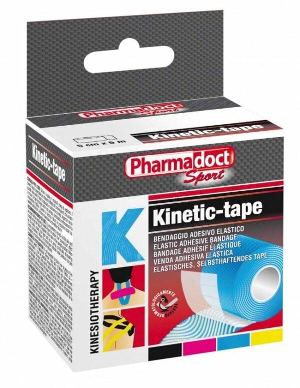 Pharmadoct, kineziološki trak 5 cm x 5 m, moder-0
