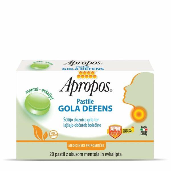 Apropos Gola Defens pastile, okus mentol-evkalipt, 20 pastil  -0