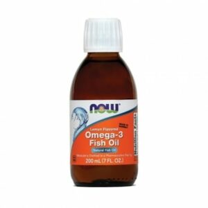 NOW, Omega 3 ribje olje, okus limone, 200 ml -0