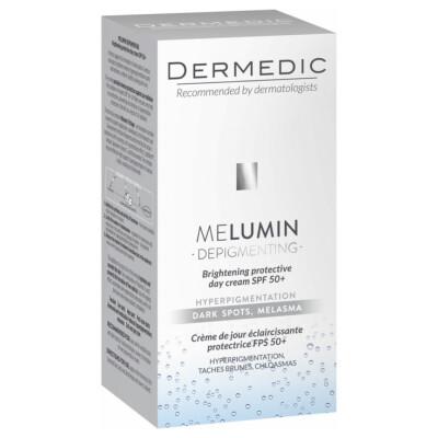 Dermedic MELUMIN Posvetlitvena zaščitna dnevna krema ZF 50+, 55 ml