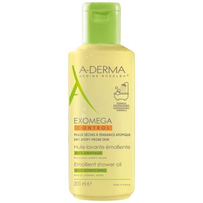 A-Derma Exomega Control emolientno čistilno olje za prhanje, 200 ml
