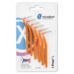 Miradent I Prox L Medzobne ščetke – Konična, 6 ščetk – Oranžna