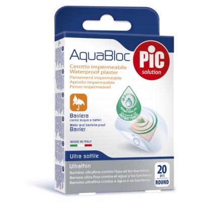 Pic Antibakterijski Obliž Aquabloc Okrogli 20x