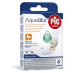 PiC Antibakterijski obliži Aquabloc srednji, 20 obližev