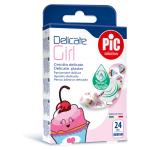 PiC Antibakterijski obliži za deklice Delicate, 24 obližev