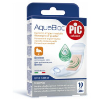 PiC antibakterijski obliži Aquabloc veliki, 10 obližev