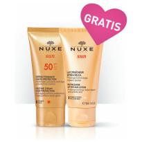 Nuxe Sun Creme Fondante Haute Protection Spf 50 Gratis Sun Lait Fraicheur Apres Soleil 50 Ml