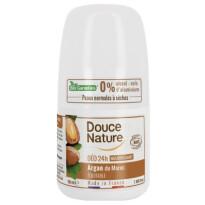 douce nature, naravni deodorant roll on 24h, argan, 50 ml