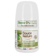 douce nature, naravni deodorant roll on 24h, mandelj, 50 ml